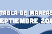 TABLA DE MAREAS SEPTIEMBRE 2015