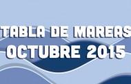 TABLA DE MAREAS OCTUBRE 2015
