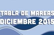 TABLA DE MAREAS DICIEMBRE 2015