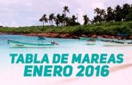 TABLA DE MAREAS ENERO 2016
