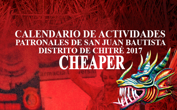 CALENDARIO DE ACTIVIDADES – DISTRITO DE CHITRÉ