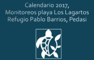 CALENDARIO 2017 MONITOREOS PLAYA LOS LAGARTOS