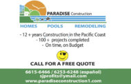 PARADISE CONSTRUCTION