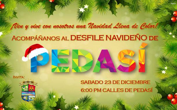 Desfile Navideño de Pedasì este 23 de diciembre