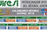 CALENDARIO DE BÉISBOL JUVENIL 2018