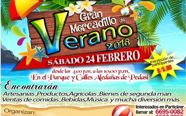 MERCADILLO DE VERANO DE PEDASI. 24 FEBRERO