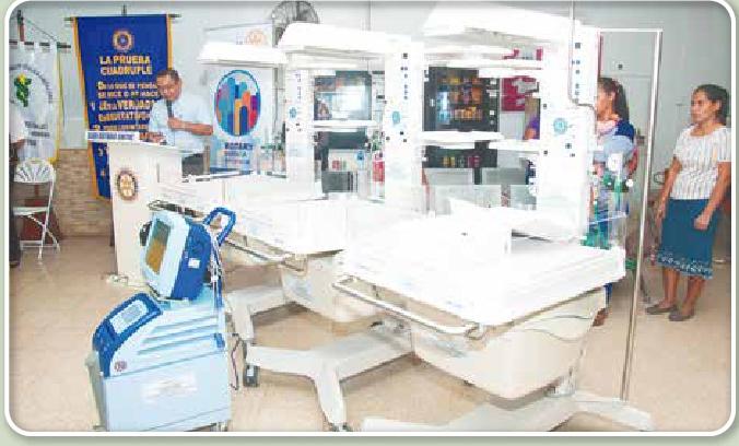 CLUB ROTARIO DE CHITRE Y EL DE LOS ANGELES HICIERON DONACION AL HOSPITAL CELCILIO CASTILLERO