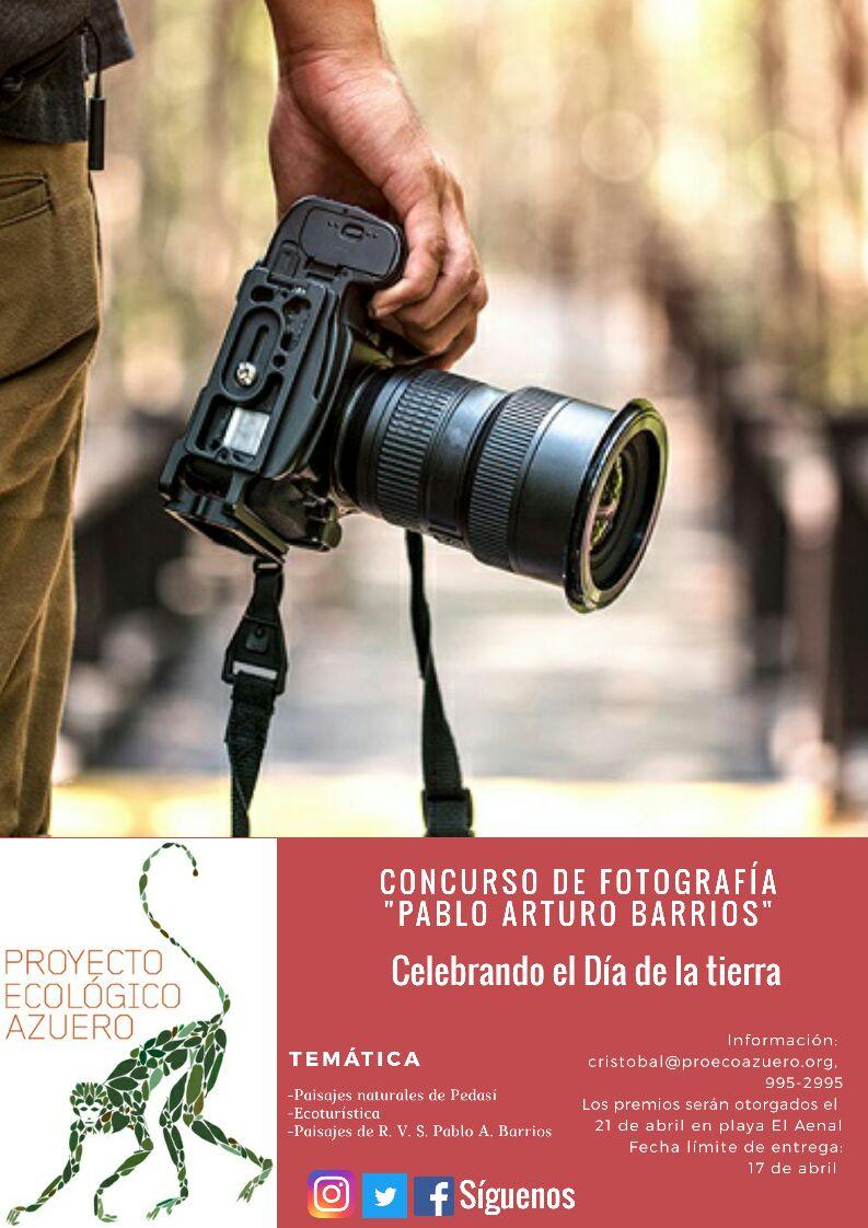 """""""Bases para el concurso de Fotografía """"Pablo Arturo Barrios 2018"""""""