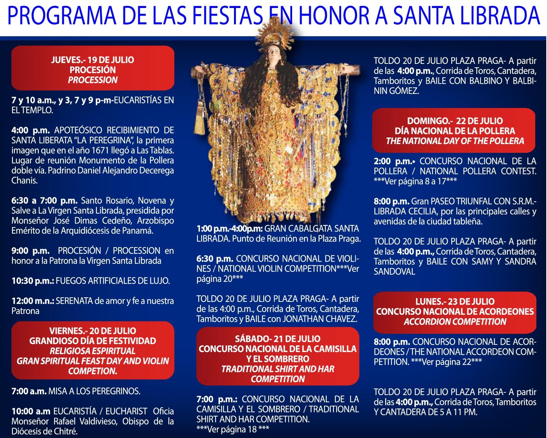 PROGRAMA  DE LAS FIESTAS DE LAS TABLAS EN HONOR A SANTA LIBRADA  LAS TABLAS FESTIVAL PROGRAMME