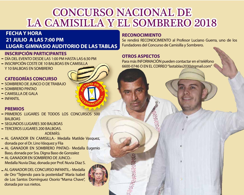 CONCURSO NACIONAL DE LA CAMISILLA Y EL SOMBRERO 2018