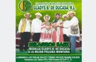 MEJOR POLLERA MONTUNA –  MEDALLA COOPERATIVA GLADYS B. DE DUCASA  –  MILAGROS SÁEZ