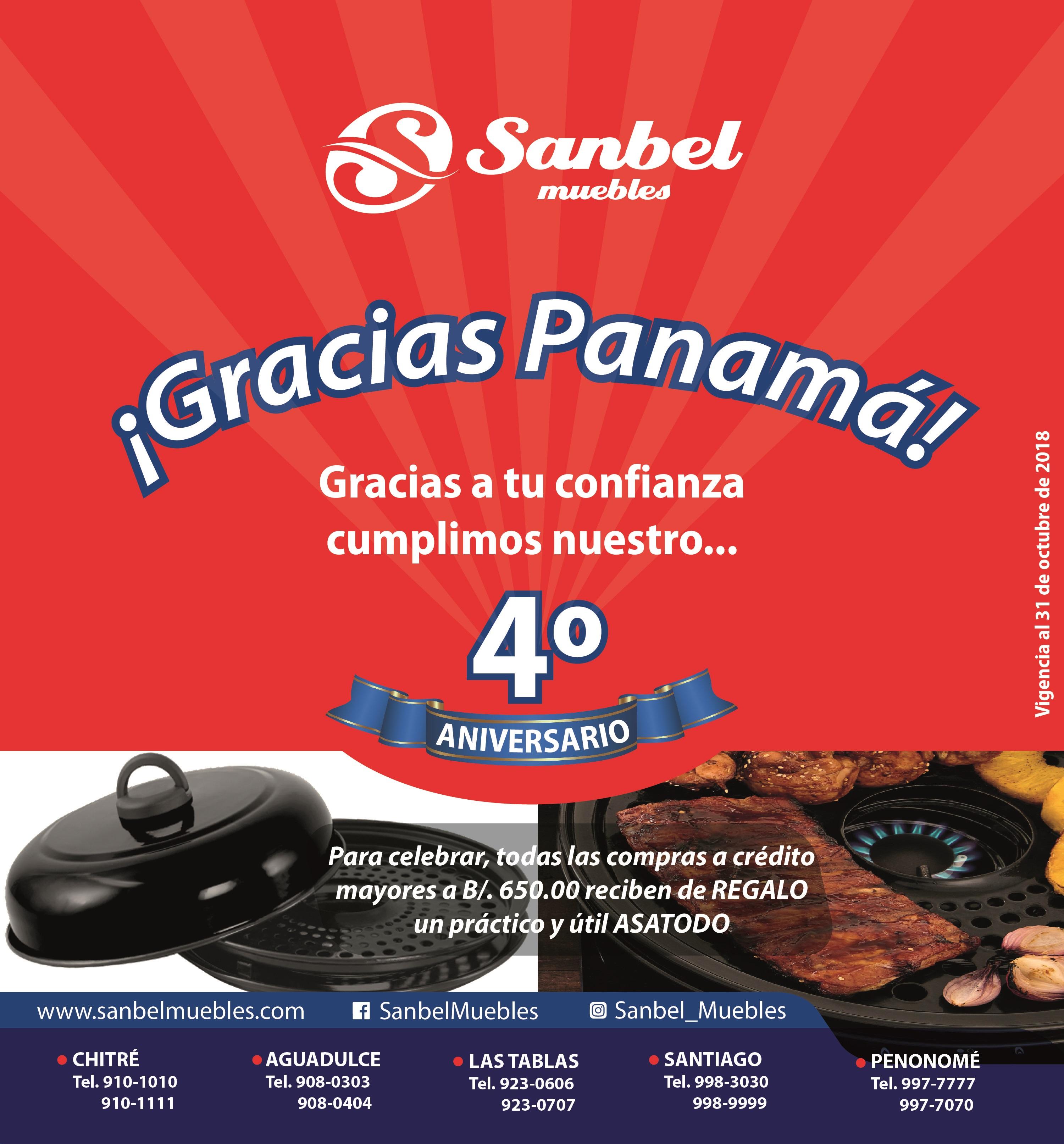 SANBEL CUMPLE SU 4TO ANIVERSARIO