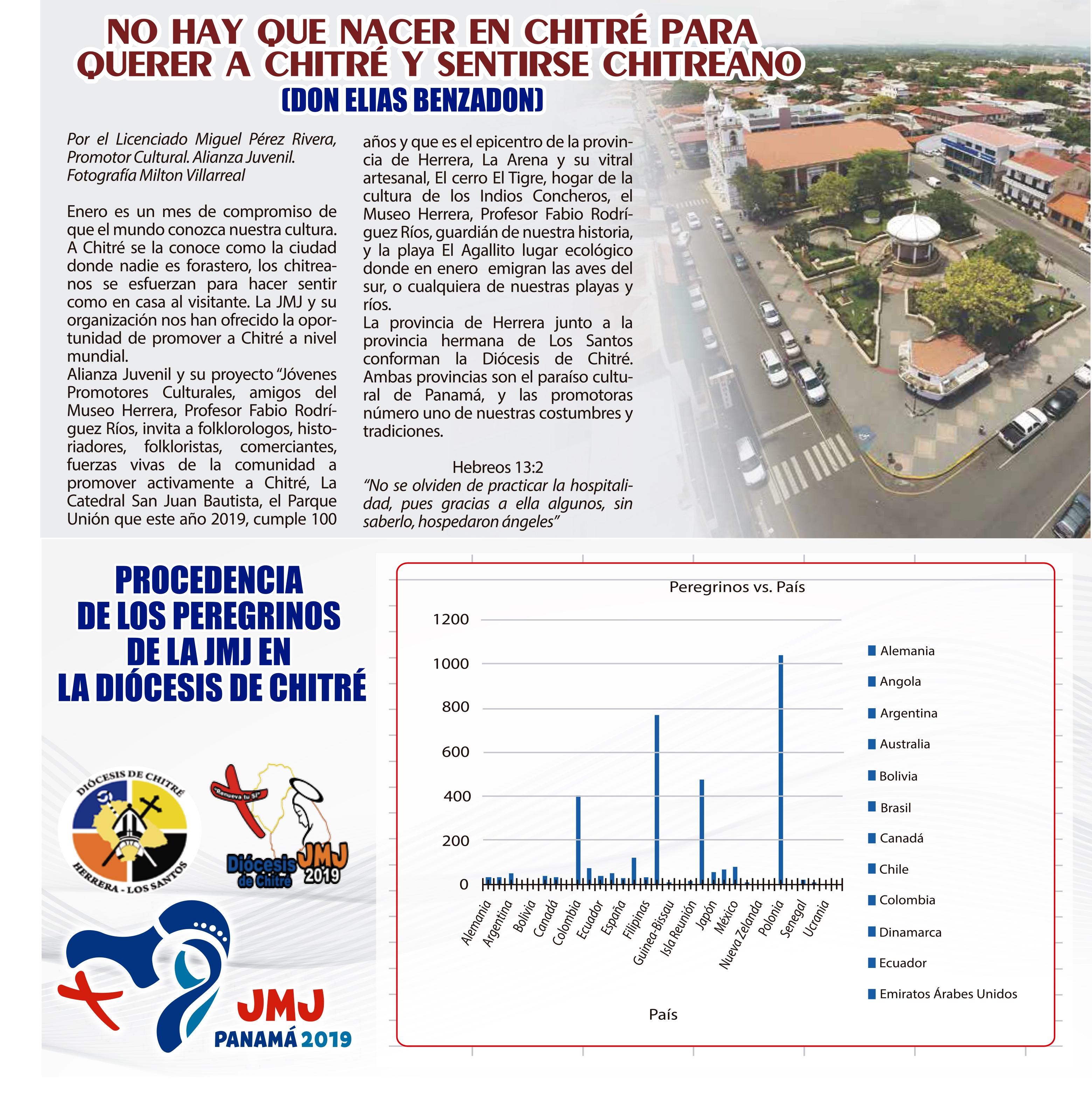 PROCEDENCIA DE LOS PEREGRINOS EN CHITRE