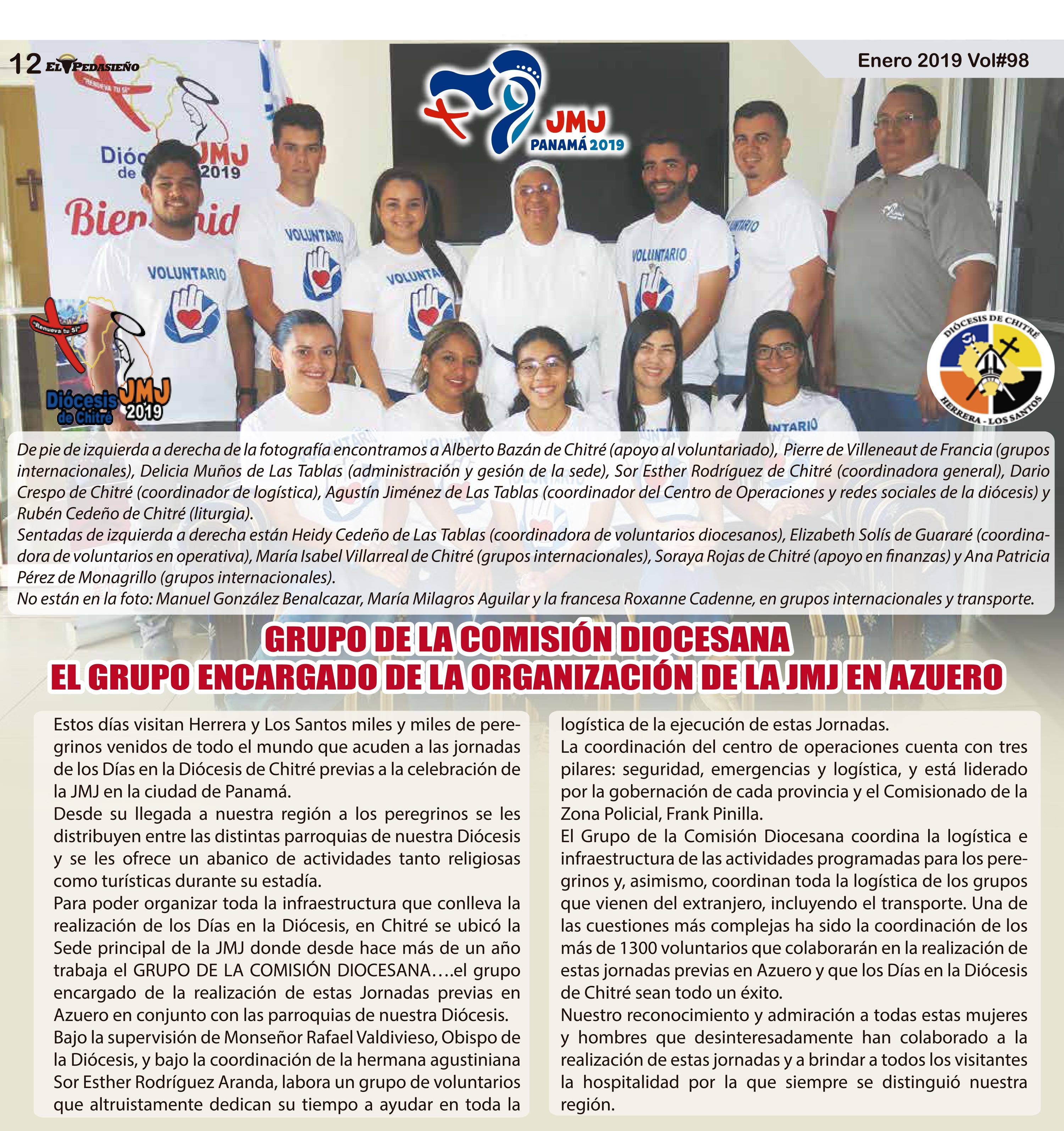 GRUPO ORGANIZADOR DE JMJ EN AZUERO