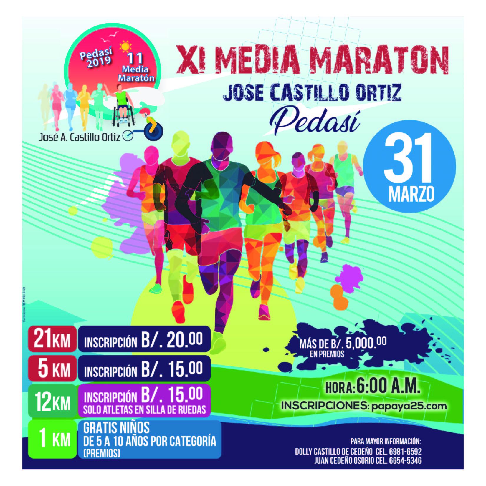 XI MEDIA MARATON JOSE CASTILLO PEDASI
