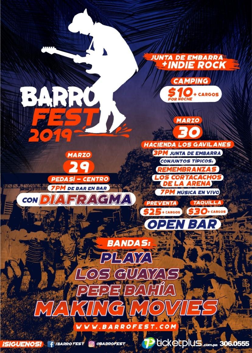 BARROFEST FESTIVAL DE MÚSICA Y MUCHO MÁS PEDASÍ VIERNES 29 Y SÁBADO 30 DE MARZO