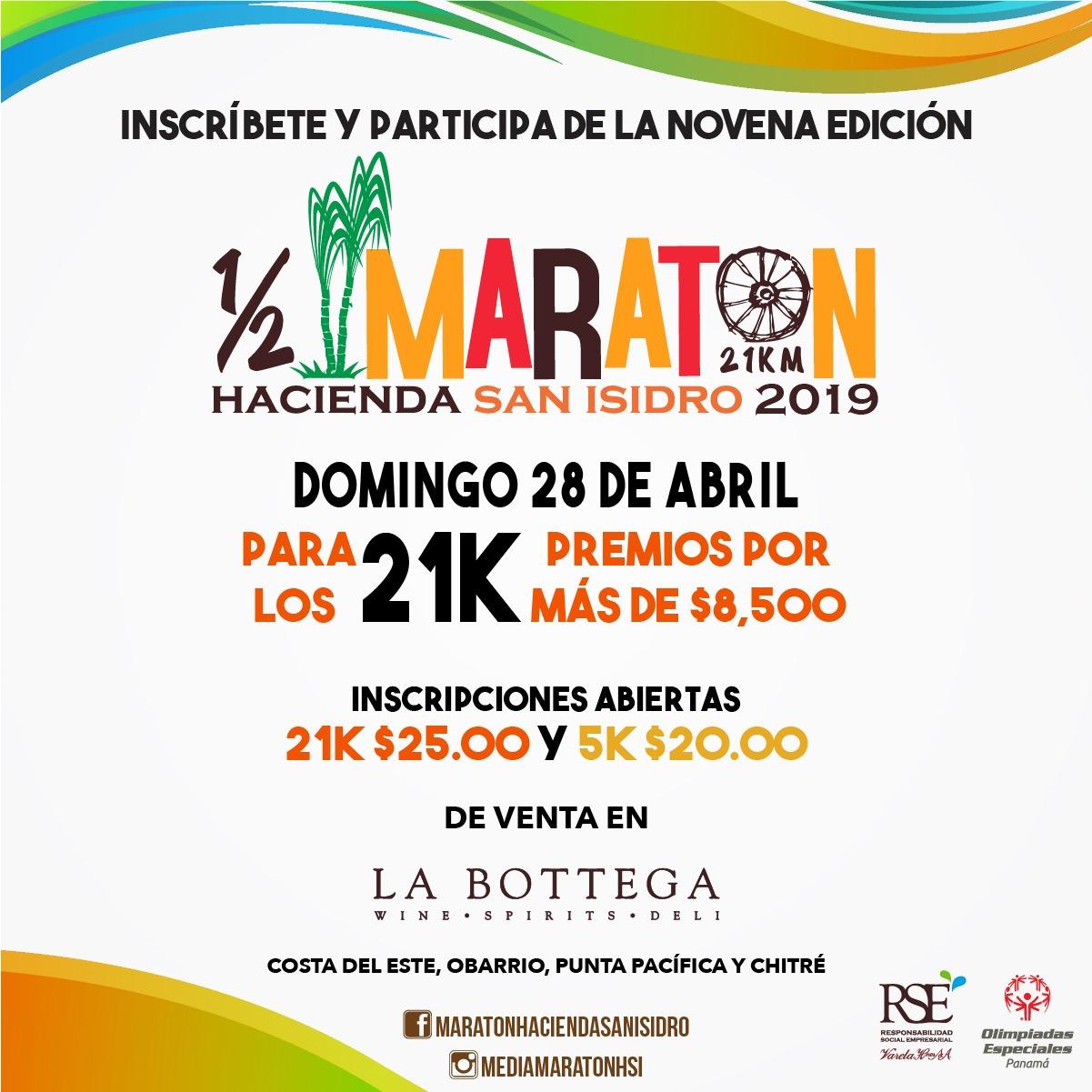 MEDIA MARATON  – HACIENDA SAN ISIDRO 2019