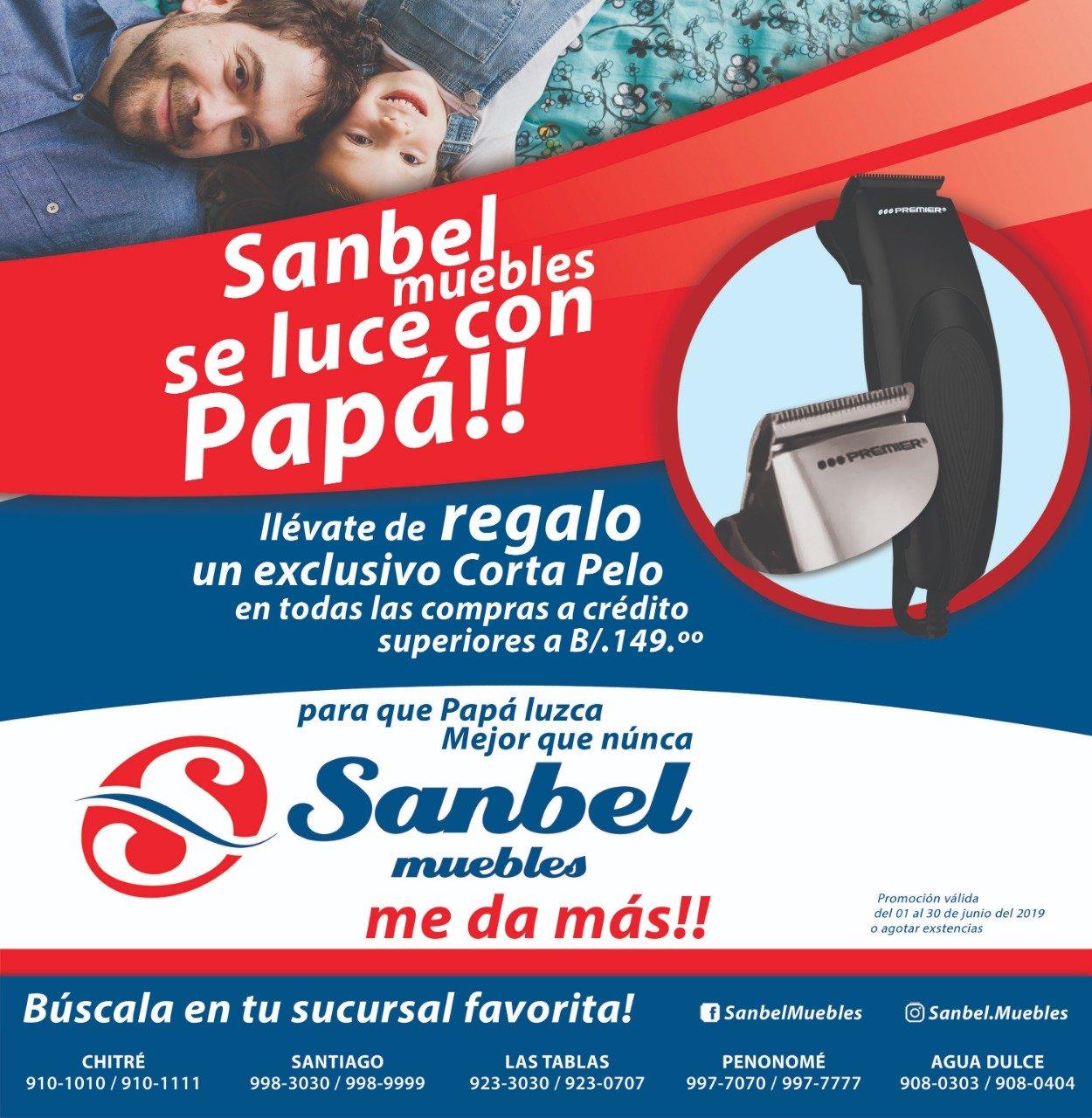 SANBEL MUEBLES SE LUCE CON PAPA